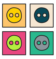 Set of unusual look web icon of modern social vector