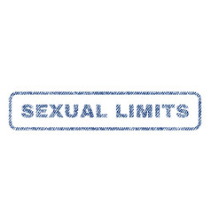 Sexual limits textile stamp vector