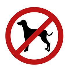 Sign of dog prohibition isolated on white vector