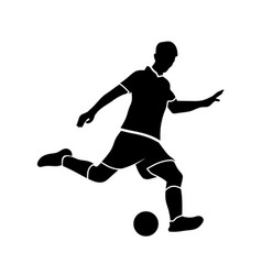 soccer players silhouette vector image