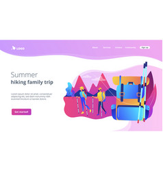 Summer hiking concept landing page vector