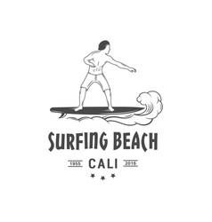 Surfing beach logotype vector