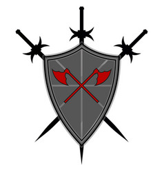 templar shield icon vector image