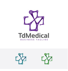 the medical logo vector image
