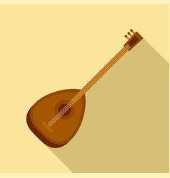 Turkish saz icon flat style vector