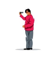 Video Blogger Cartoon vector