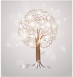 Vintage abstract tree drawing vector
