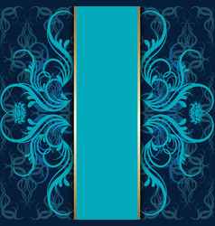 Vintage elegant background antique victorian vector