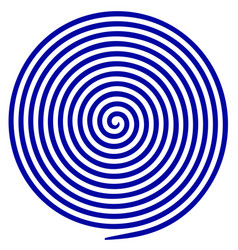 volute maze concentric lines circular rotating vector image