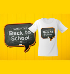 welcome back to school slogan graphic for t-shirt vector image