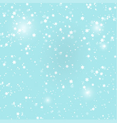 with falling snow background winter snowing sky vector image