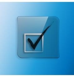 check mark icon Flat design vector image