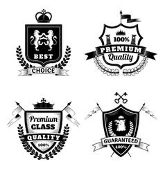 Heraldic Best Choice Emblems Set vector image vector image