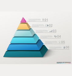infographic pyramid with numbers and business vector image