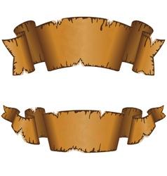 Old ribbon 13 vector image vector image