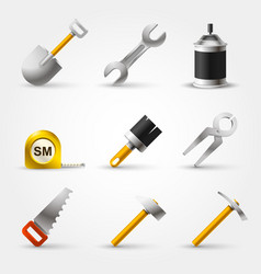 set builder tool vector image