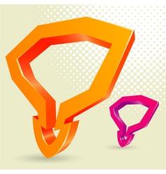 abstract 3d arrow vector image vector image