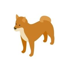 Akita dog icon isometric 3d style vector image