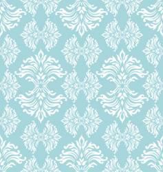cyan floral curl vector image vector image
