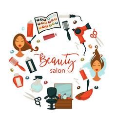 hair beauty or woman hairdresser salon poster for vector image vector image