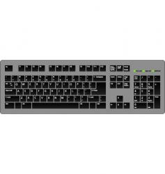 keyboard blac vector image
