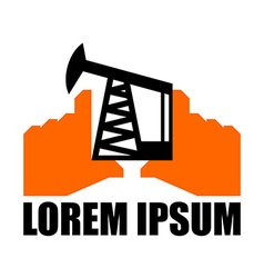 Oil production logo petroleum industry sign Logo vector image