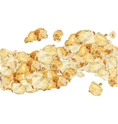 Popcorn isolated on white background Seamless vector image vector image