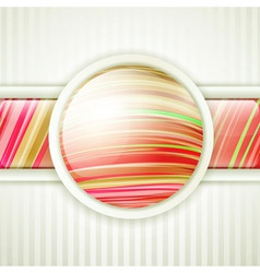 round button frame vector image vector image