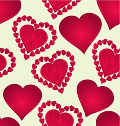 Seamless texture Hearts of various shapes vector image