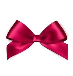 Shiny pink satin ribbon on white background vector image vector image