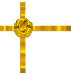 yellow isolated realistic bow vector image vector image