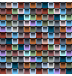 Background with colorful blocks structure vector image vector image