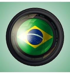 Brazil camera lens vector image vector image