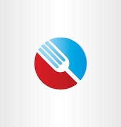 circle fork restorant symbol vector image vector image