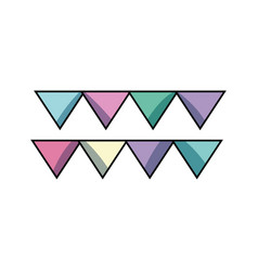 cute party flag decoration design vector image
