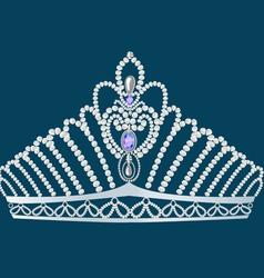 Gem Crown vector image vector image