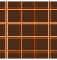 Tartan brown seamless pattern vector image
