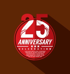 25 Years Anniversary Celebration Design vector image
