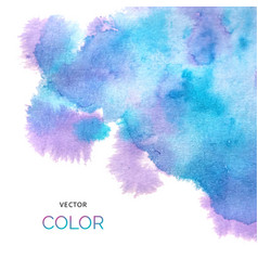 abstract colorful background brush paint blue and vector image