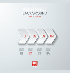 Abstract white paper arrow infographics with vector