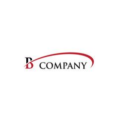 b letter swoosh logo vector image