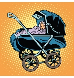 banursery retro stroller vector image