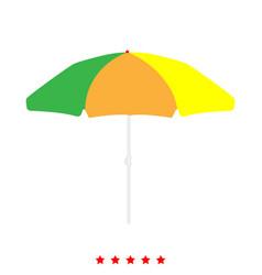 beach umbrella icon different color vector image