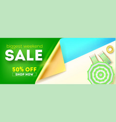 biggest weekend sale top view pool with sun vector image