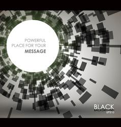 black geometric background vector image vector image