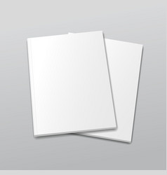 Blank empty magazine or book template on a gray vector image