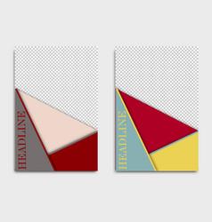 Brochure design template creative vector