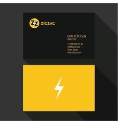 Business Card Qualitative elegant logos vector image