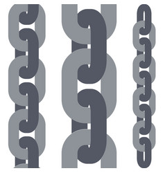 Chain links set vector