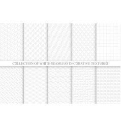 collection white and gray seamless decorative vector image